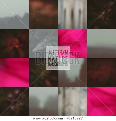 Set Of Blurred Backgrounds Landscape