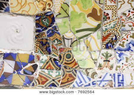 Broken pottery, trencadis, Gaudi.