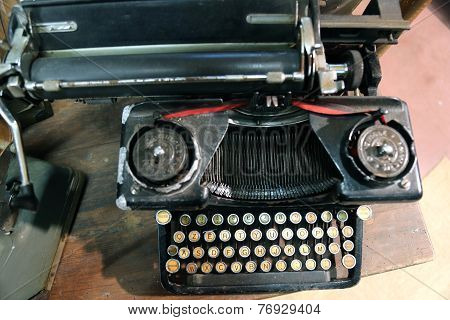 Black Rusty Typewriter Used By Typists Than Once
