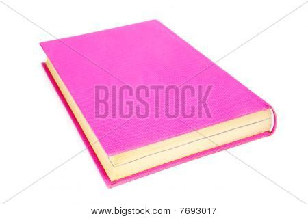 close up of a book isolated on a white background poster