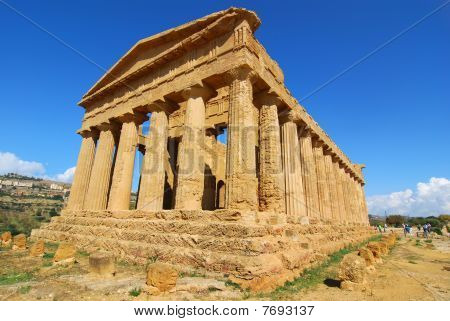 Greek Temple Of Concordia In Agrigento, Sicily