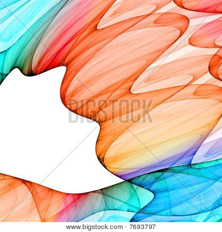 abstract colorful waves background