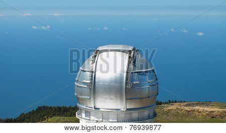 Astronomical Observatory In Roque De Los Muchachos. La Palma. Spain