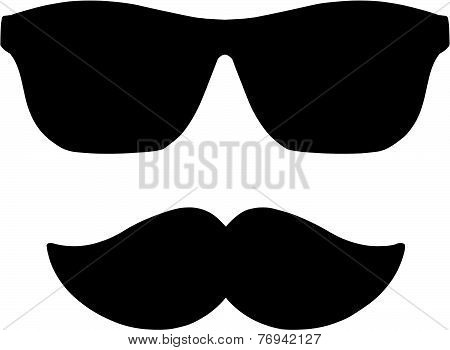 Moustache and Shades
