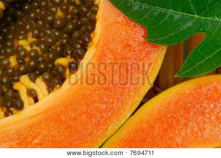 Close Up Of Papaya Fruit