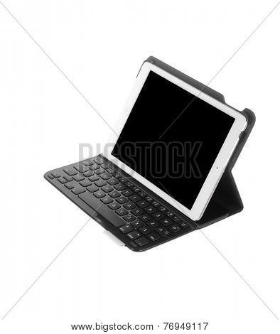 Hayward, CA - November 24, 2014: Apple Computer iPad with magnetic keyboard