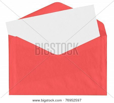 Red Envelope With Blank Letter