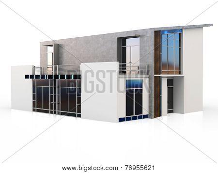 3D Modern Duplex House
