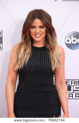 LOS ANGELES - NOV 23:  Khloe Kardashian at the 2014 American Music Awards - Arrivals at the Nokia Theater on November 23, 2014 in Los Angeles, CA