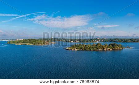 Swedish Coast In Summer Season