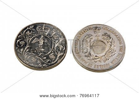 Medals Celebrating Silver Jubilee Of Queen Elizabeth Ii