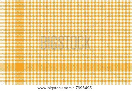 Checkered Tablecloths Pattern Yellow