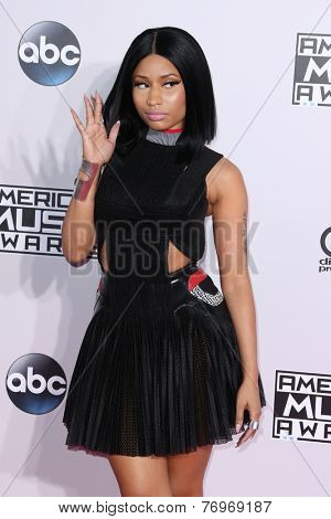 LOS ANGELES - NOV 23:  Nicky Minaj at the 2014 American Music Awards - Arrivals at the Nokia Theater on November 23, 2014 in Los Angeles, CA