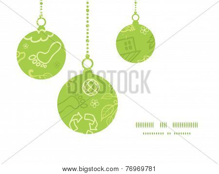 Vector environmental Christmas ornaments silhouettes pattern frame card template