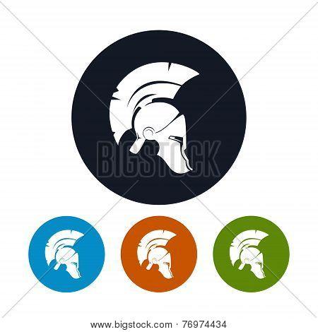 Antique Helmet Icon, Vector Illustration
