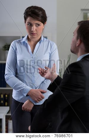 Boss Reprimanding His Employee