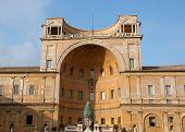 Cortile della Pigna - Roman bronze pinecone Vatican Museum Rome Italy poster