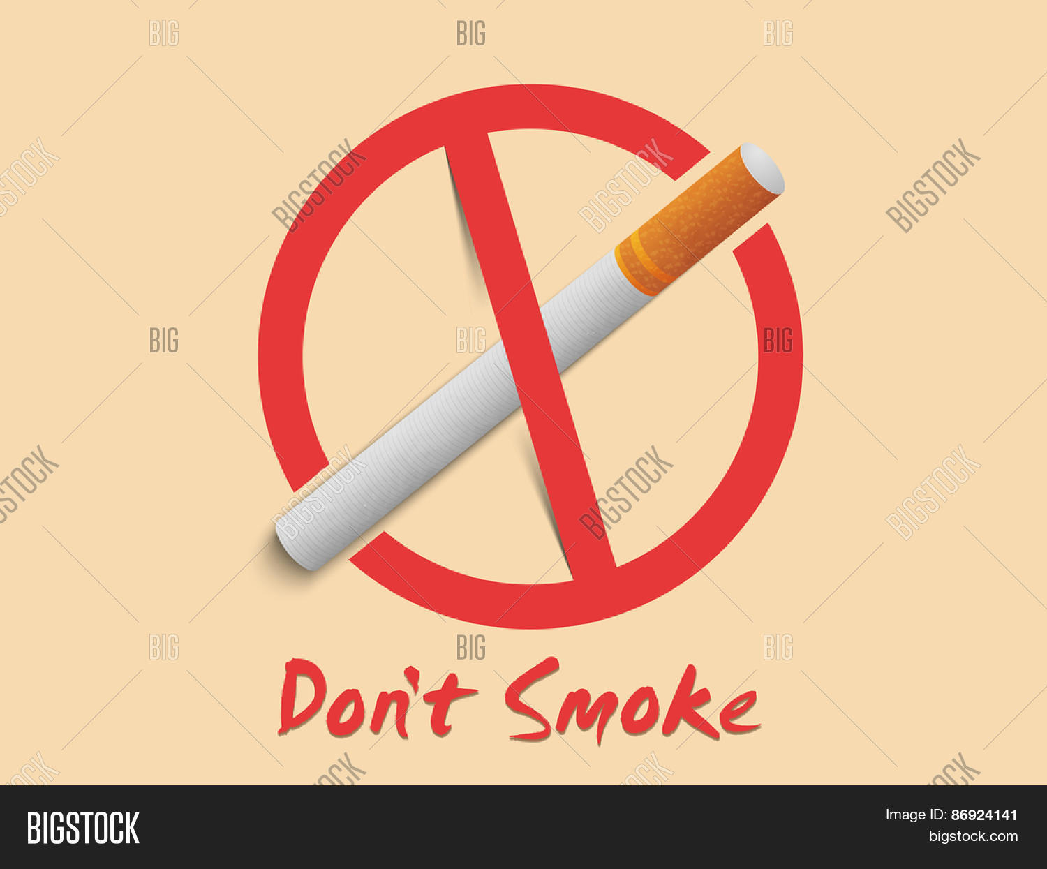 Anti smoking sign symbol text don vector photo bigstock anti smoking sign and symbol with text dont smoke can be used as buycottarizona Images
