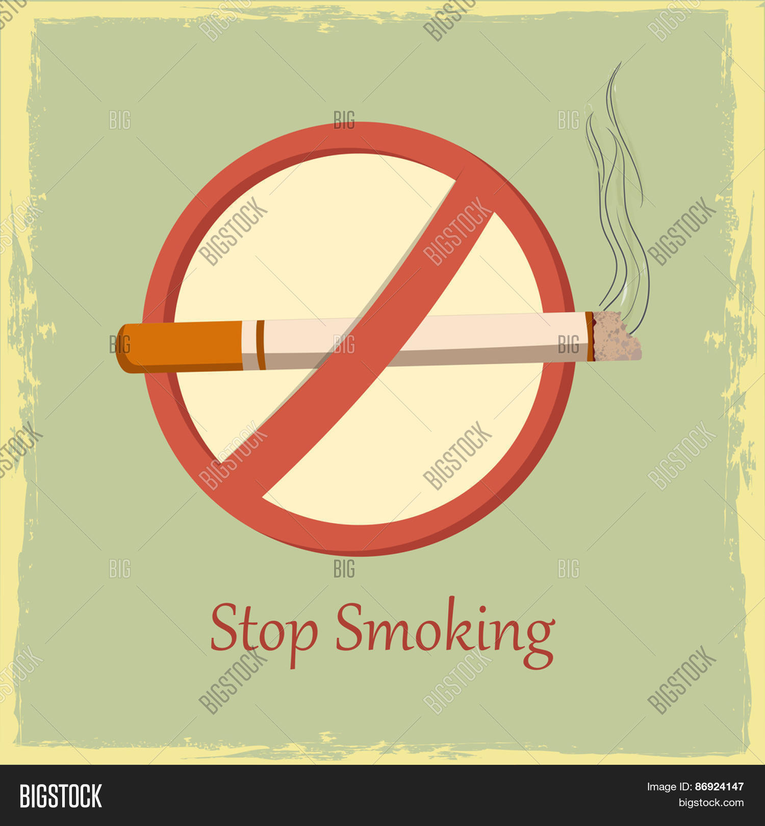 Poster banner flyer anti smoking vector photo bigstock poster banner or flyer with anti smoking symbol for no smoking day on vintage background buycottarizona Images