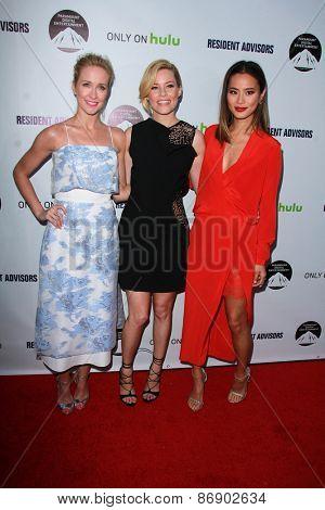 LOS ANGELES - MAR 31:  Anna Camp, Elizabeth Banks, Jamie Chung at the