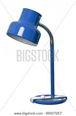 Vintage Blue lamp isolated on a white background