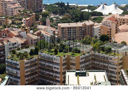 Monaco building roofs