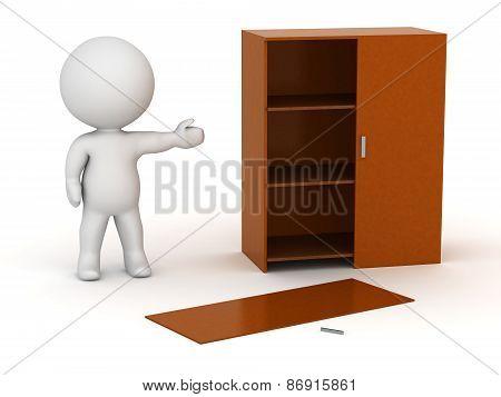 3D Character Assembling Furniture