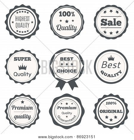 Vector Vintage Badges. Best Choice, Premium Quality, Highest Quality And Sale