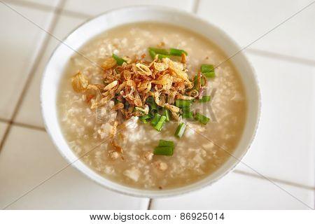 Ready to serve chicken porridge