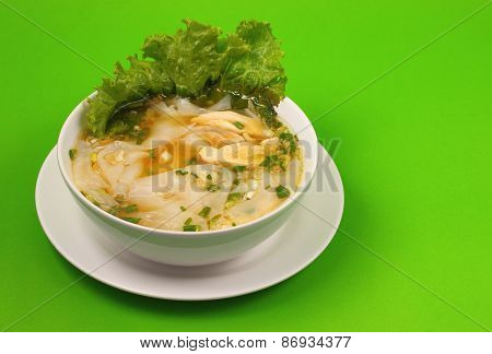 Glass Noodle Chicken Soup Thai Style