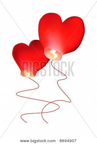 Air Small Lamps Of Heart