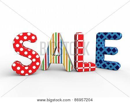 3D spring summer sale text