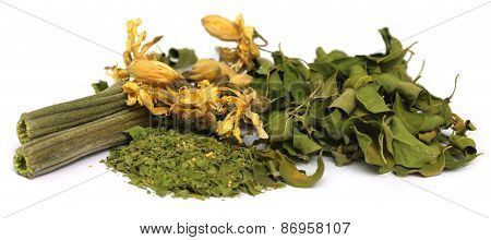 Dried Moringa With Leaves And Flower