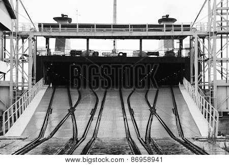 Railway Ramp For Loading Industrial Ro-ro Ships