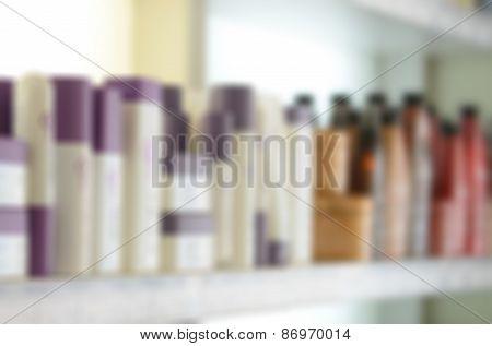 Modern beauty salon blur background