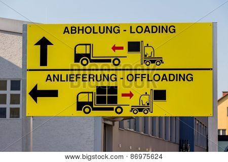 a sign shows the different goals for pickup and delivery of goods by truck to