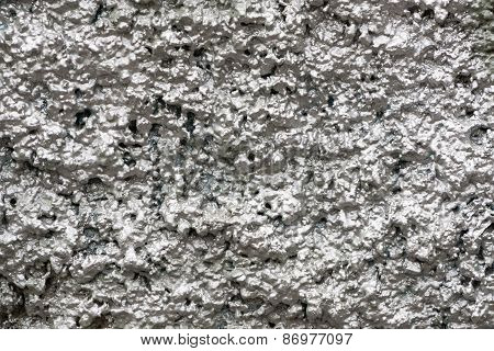 Bumpy Wall Surfaces Of Silvery Color