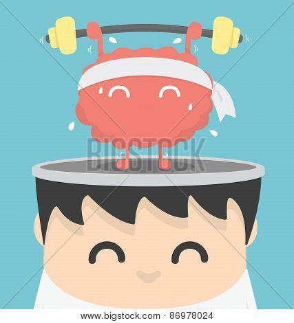Businessman Exercising  Brain