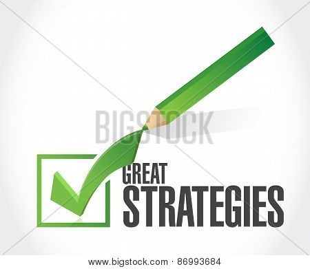 Great Strategies Check Mark Sign