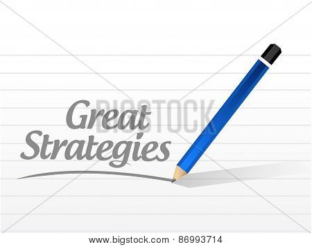 Great Strategies Message Sign Illustration