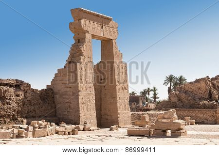 Entrance Of Egyptian Dendera Temple