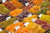 Sour sweets at the Boqueria market in Barcelona poster