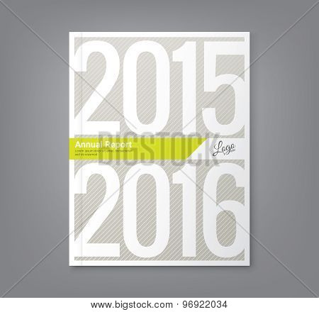 Number 2015 And 2016 Design Background For Business Annual Report Book Cover Brochure Flyer Poster