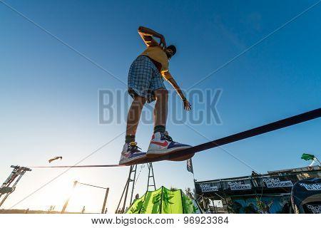 Andre Antunes Slackline Performance