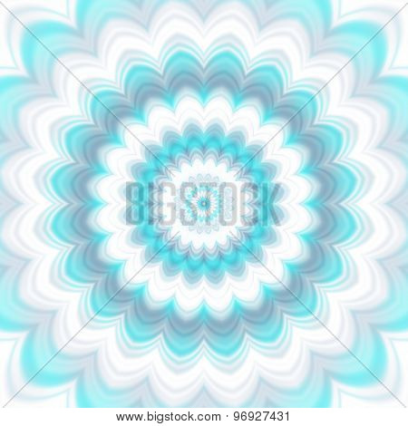 Amazing Blue Colored Floral Background
