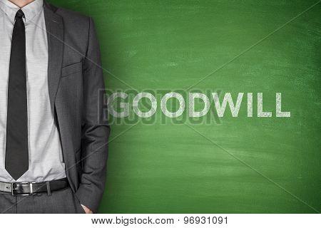 Goodwill text on blackboard