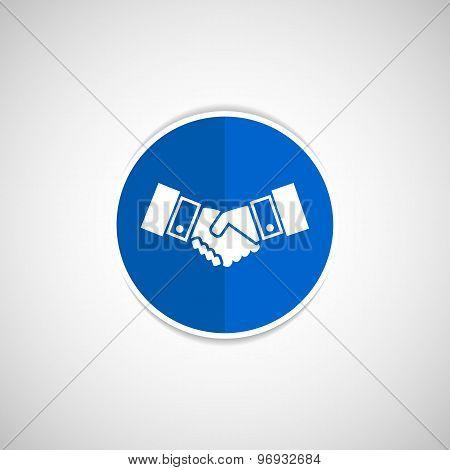 Handshake vector icon hake vector meeting business