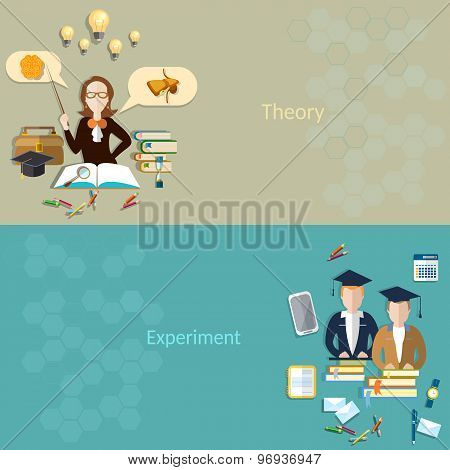 Science And Education: The Students For Learning, The Teacher In The Classroom, Biology, School