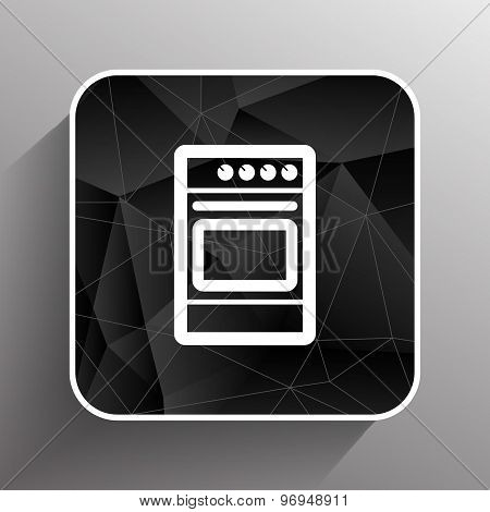 stove icon fuel hob meal electric blaze plate kitchen . poster