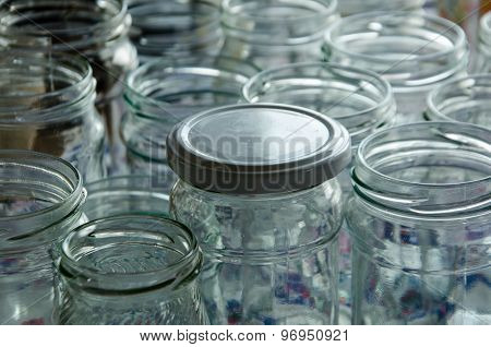 many permament empty jars for home-made preserves poster
